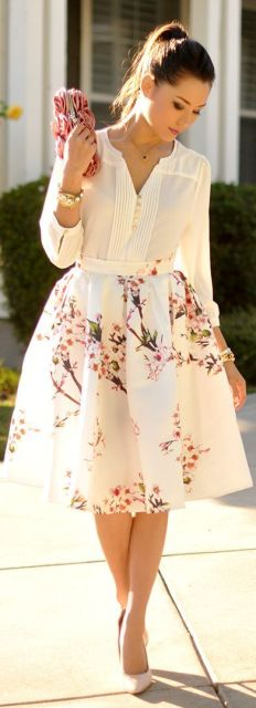 Sheinside-White-Multi-Floral-Print-Full-Midi-skirt