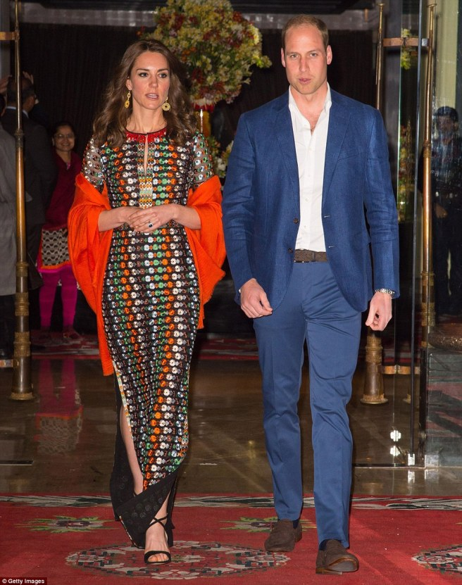 Kate Middleton | Tony Burch Dress | Royal Dinner | Bhutan | Thimphu