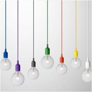 colourful pendant light socket