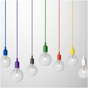 colourful pendant light socket