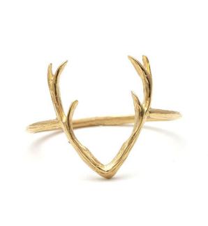 Gold Antler Ring