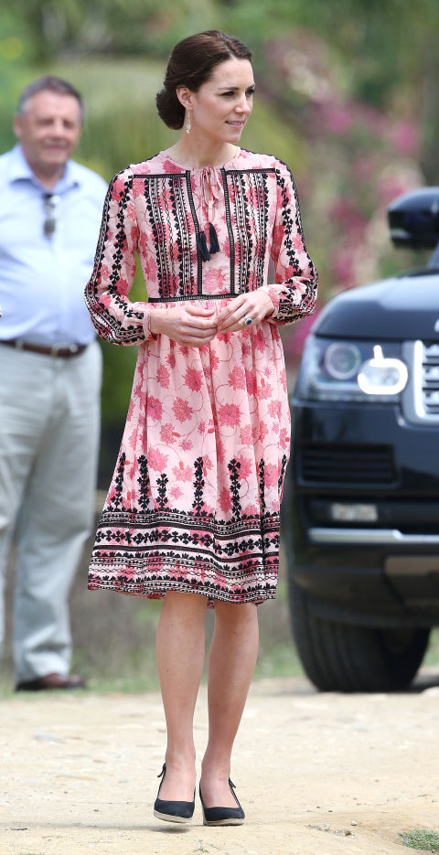 Kate Middleton in India | Kaziranga | Topshop dress | Panbari village