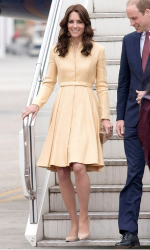 Kate Middleton in Bhutan | Pale Gold Dress | Paro