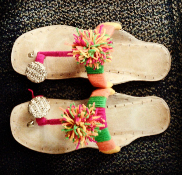 Wool embellished Kolhapuri slippers | Chai High | Indian Fashion Blog | Kitsch Style | Best