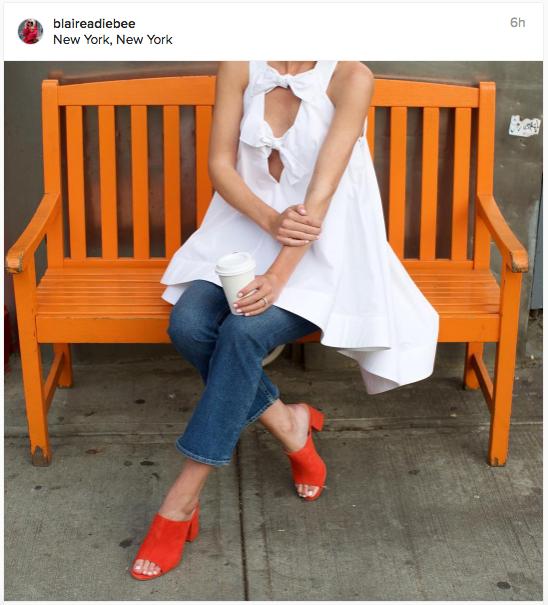 Orange heels meets white tunic meets blue jeans | Chai High is an Indian Fashion Blog started by Shivani Krishan