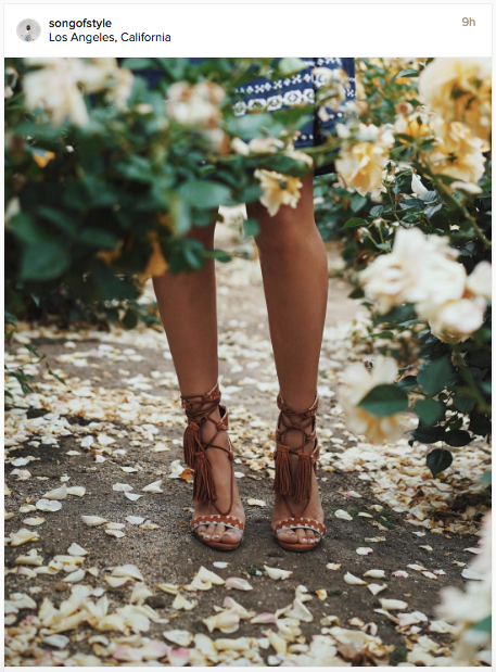 Loving the flowers and tasselled sandals in this Instagram post | Chai High is an Indian Fashion Blog started by Shivani Krishan