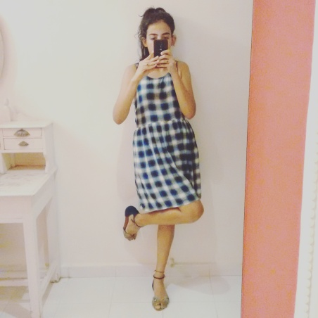 I wore my plaid school girl forever 21 dress with Charles and Keith Sandals | Chai High is an Indian Fashion Blog started by Shivani Krishan