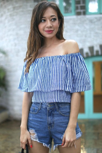 Off-shoulder top from Spring Break | Chai High is an Indian fashion blog started by Shivani Krishan
