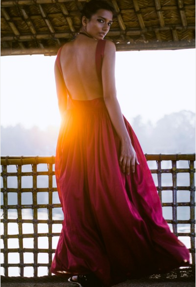 A backless maxi dress by The Spring Break | Chai High is an Indian Fashion Blog started by Shivani Krishan