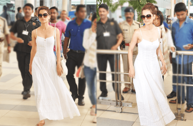 White hippie boho princess dress worn by Kangana Ranaut | Chai High is an Indian Fashion Blog started by Shivani Krishan