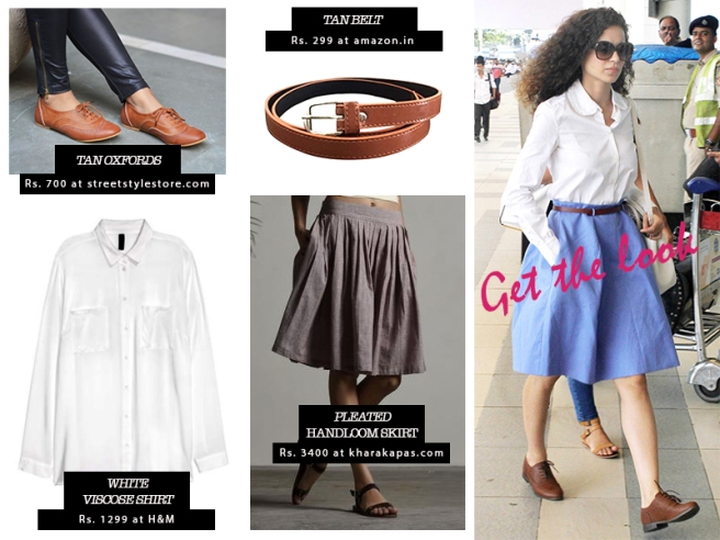 Get Kangana's look on Kharakapas.com, H&M India, StreetStyleStore.com and Amazon.in | Chai High is an Indian Fashion Blog started by Shivani Krishan