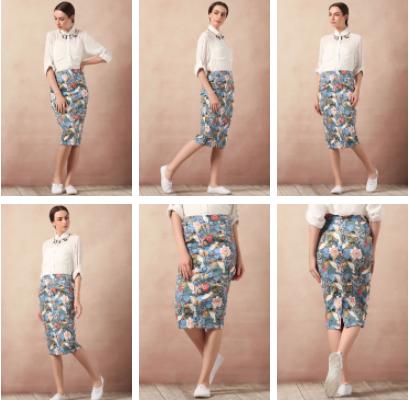 Printed Pencil Skirt found on Vajor.com | Chai High is an Indian Fashion Blog started by Shivani Krishan