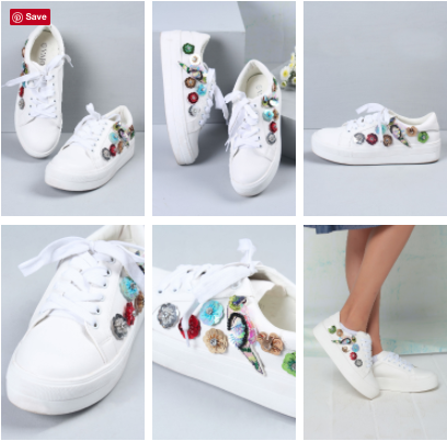Sequinned White Sneakers | Embellished White Sneakers | Pureskin | Vajor.com | Chai High is an Indian Fashion Blog started by Shivani Krishan