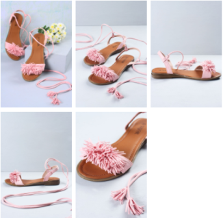 Fluffy, tasselled tie-up sandals in candy pink found on Vajor.com | Chai High is an Indian Fashion Blog started by Shivani Krishan