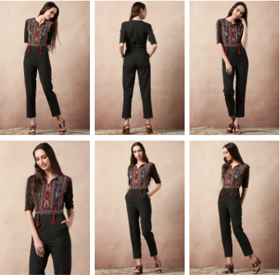 Black Jumpsuit with an Ikat Yoke found on Vajor.com | Chai High is an Indian Fashion Blog started by Shivani Krishan