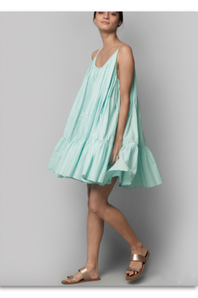 Huhu pale blue-green dress found on Nicobar.com | Chai High is an Indian Fashion Blog started by Shivani Krishan