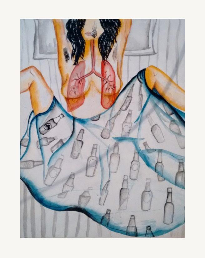 Cigarettes after sex | An artwork by Shivani Krishan | Chai High is an Indian blog started by Shivani Krishan