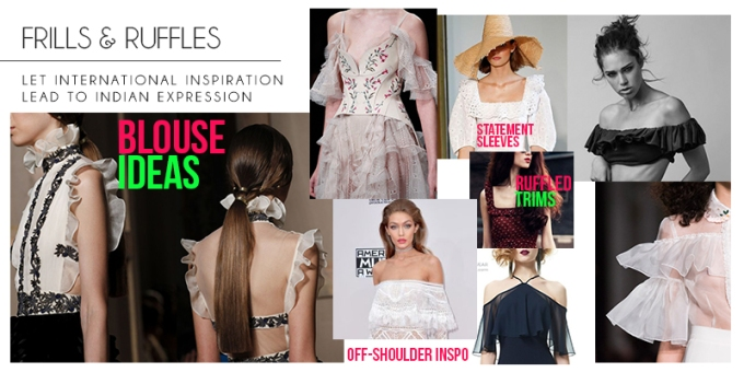2017 Trends | Inspiration for Fashion Designers | Fashion Design Ideas | Fashion Week Inspo | Pinterest Fashion Ideas | Design your dream saree and lehenga blouse | Chai High is an Indian Fashion Blog started by Shivani Krishan