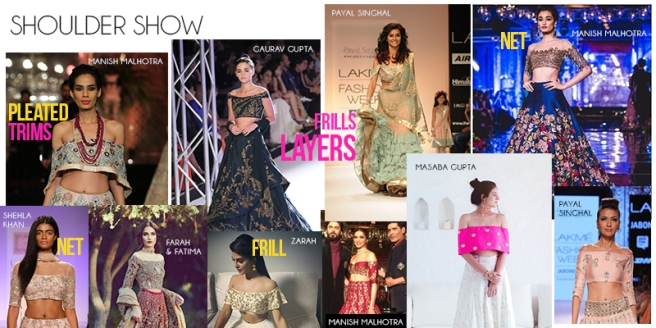 Off-shoulder | Cold shoulder | Shoulder show | Frills | Indian off shoulder blouses | Saree Blouse Inspiration | Ethnicwear | Traditional clothes | Embellished blouses | Manish Malhotra |  Indianwear | Indian Designers | 2017 Trends | Inspiration for Fashion Designers | Fashion Design Ideas | Fashion Week Inspo | Pinterest Fashion Ideas | Design your dream saree and lehenga | Chai High is an Indian Fashion Blog started by Shivani Krishan | Bridal Trends | Wedding Fashion Ideas