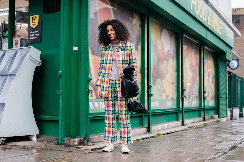 The Check Trouser Suit as seen during The London Fashion Week | Street Style Photography | Chai High is an Indian Fashion Blog started by Shivani Krishan