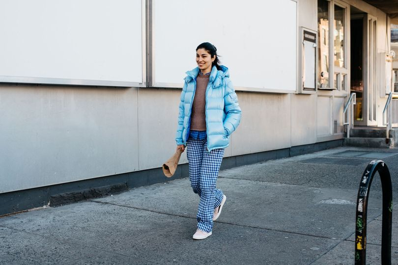 The Check Trouser as seen on the New York Fashion Week Street Style Pictures | Chai High is an Indian Fashion Blog started by Shivani Krishan