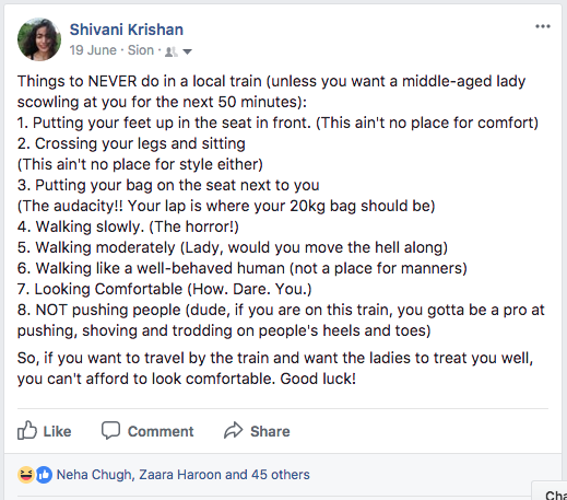 Mumbai Local train stories | Chai High is a blog by Shivani Krishan